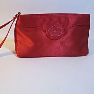 Oscar de la Renta Red Cosmetic Bag